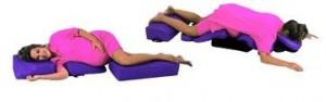Massage med kroppskuddar för gravida